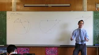 Intercept Properties - Circle Geometry (1 of 3: Intersecting chords)