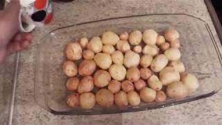 Печеная картошка в мундире в духовке