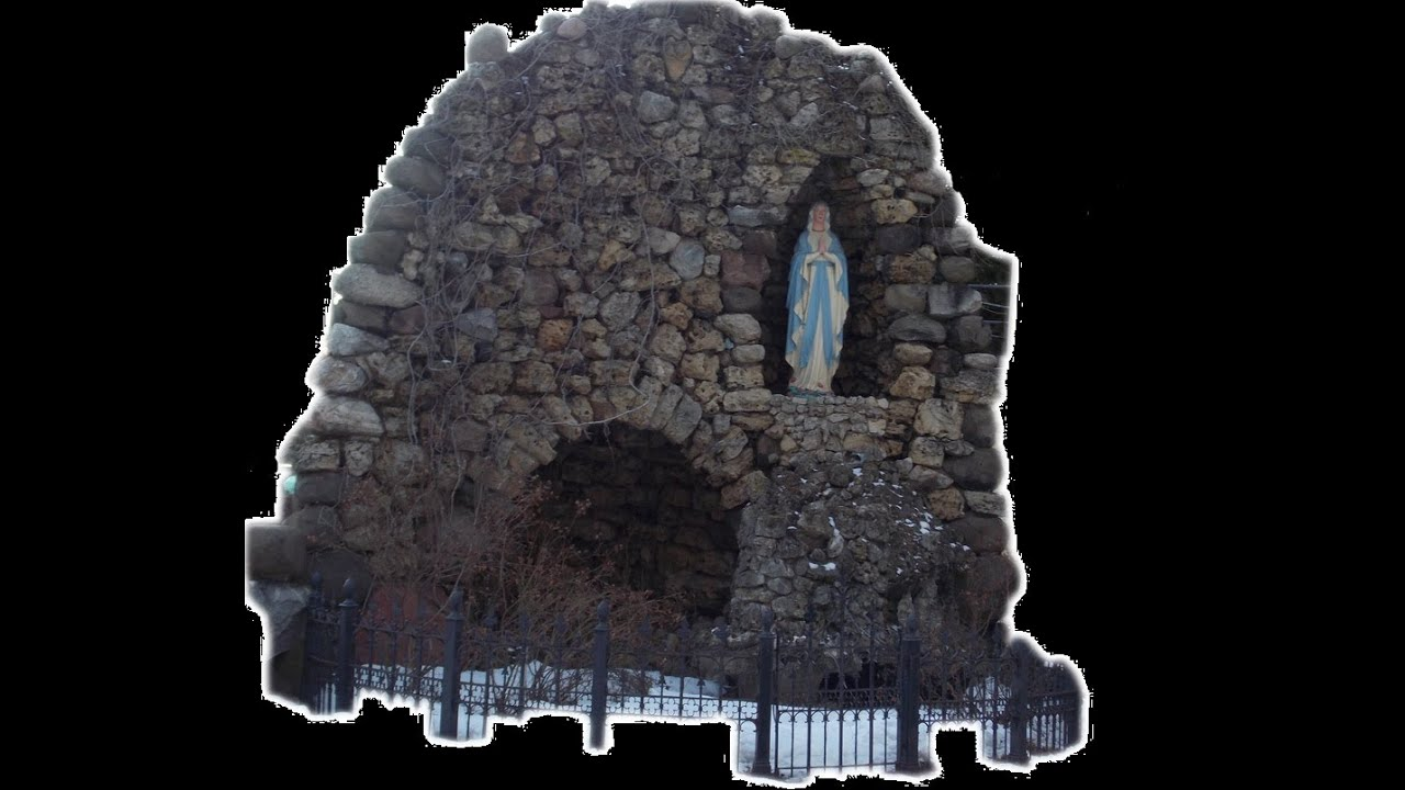 Ghosts captured praying by  Virgin Mary Grotto