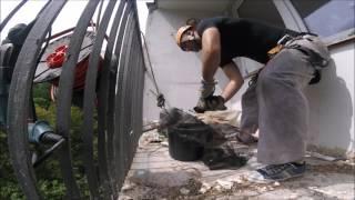 Prace wysokościowe - montaż siatki przeciw ptakom - usługi alpinistyczne - Bird evacuation