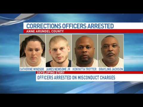 4 Anne Arundel Co. jail officers arrested on misconduct, bribery charges