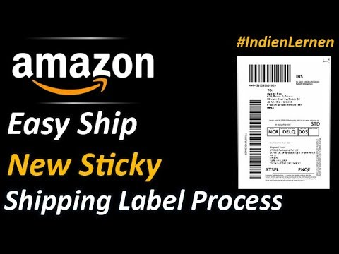 Amazon Easy Ship Sticky Shipping Label | Packaging for your Amazon orders - Hindi