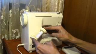 Sewing machine Швейная машина Mini Jaguar 281 test намотка нитки на шпульку