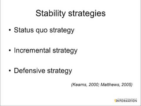 Video: Stability and Retention Organizational Strategies
