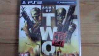 Unpacking Army of Two 40th Day (PS3) german