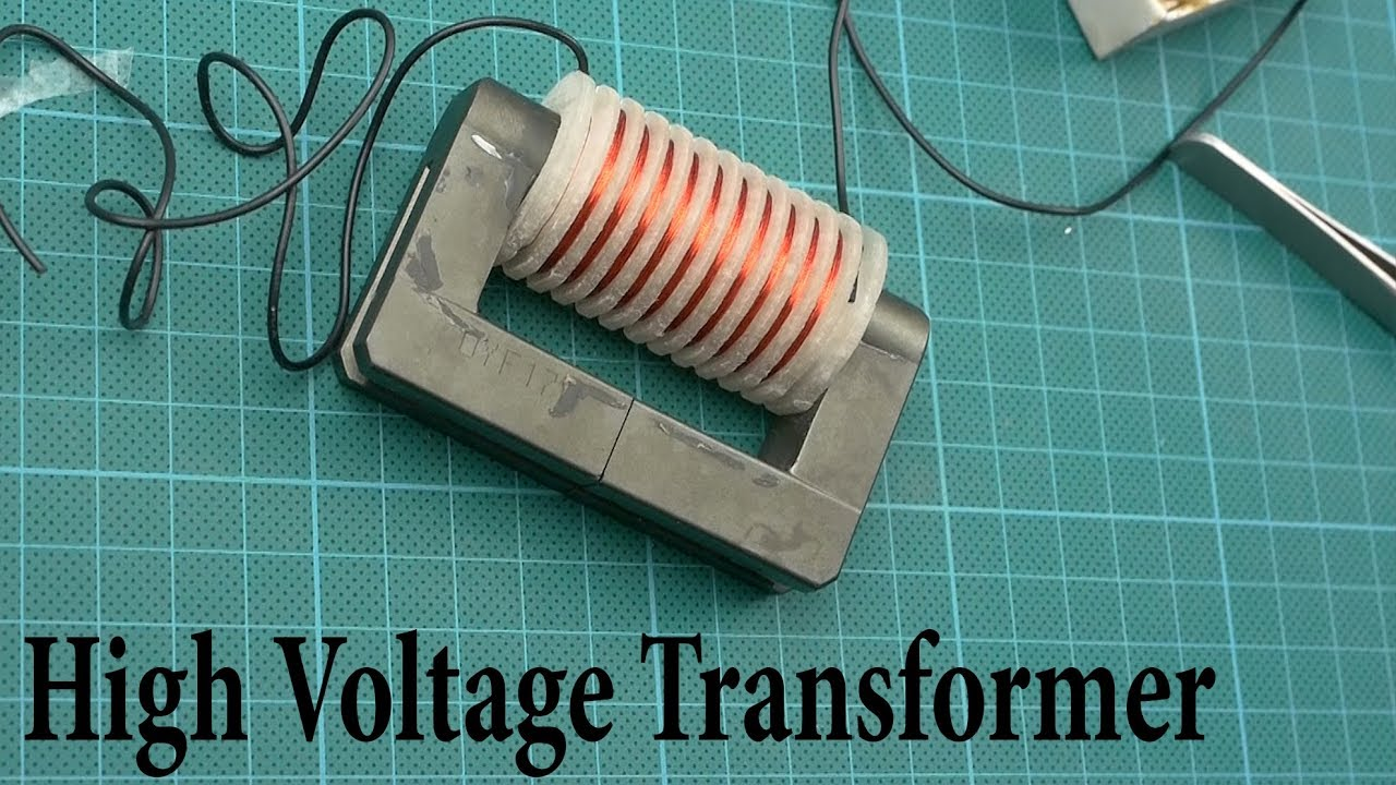 How to make a High Voltage Transformer - YouTube