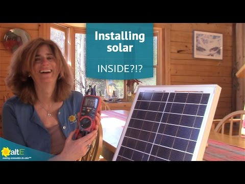 Can I install a solar panel in a window?