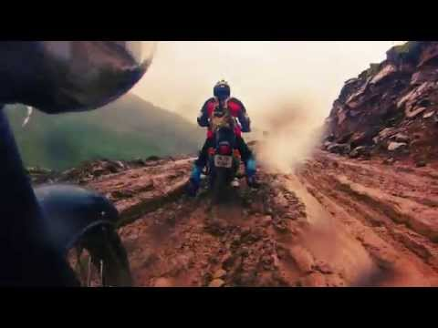 Motorcycle Himalayan tour shot with GoPro