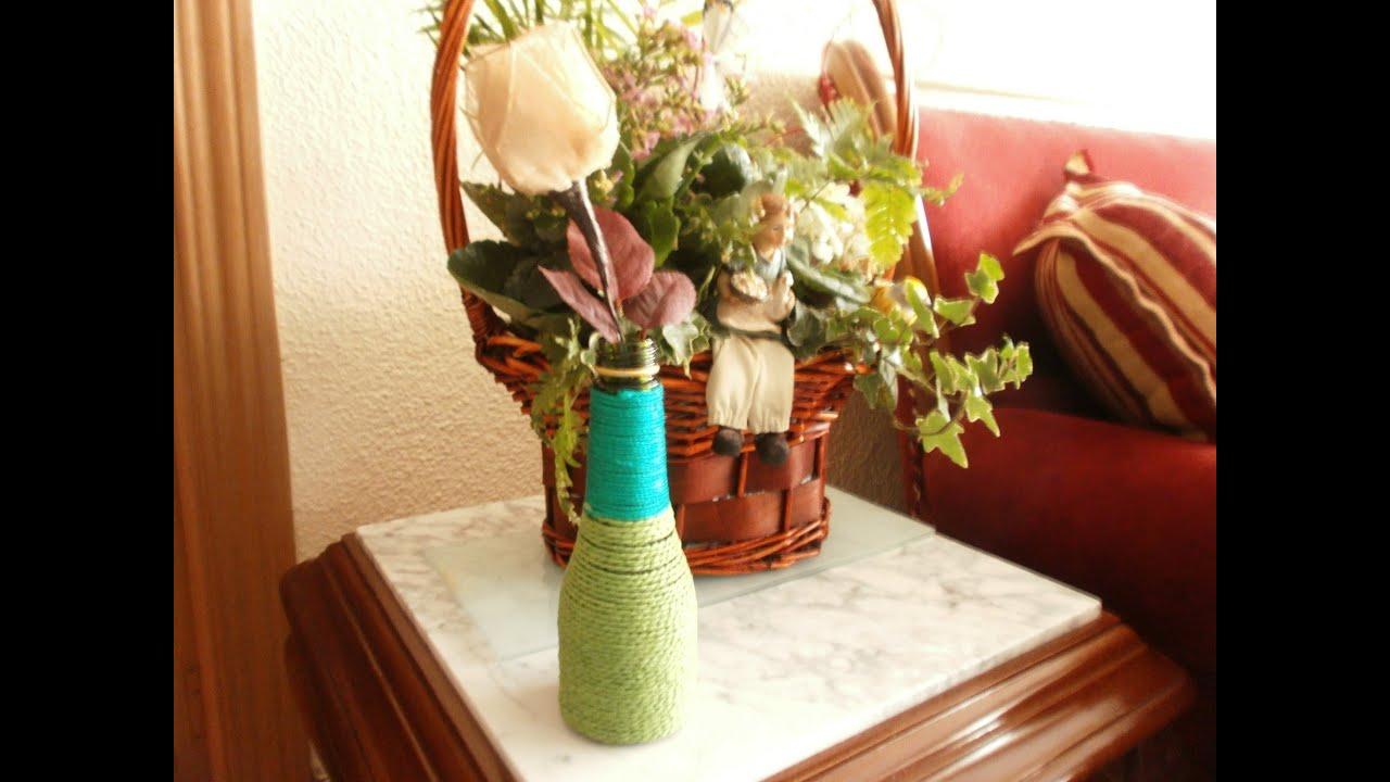 C mo reciclar una botella para hacer un florero youtube - Fabrica de floreros de vidrio ...