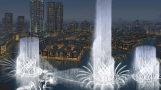 Dubai dancing water fountain 2015 Dubai mall water fountain