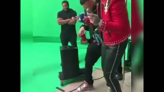 #slide remix video shoot preview , French Montana literally likes Cardi B!!!!