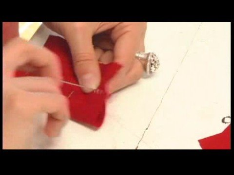 Hand Sewing Stitches : Applique Stitching: How to Fell Stitch