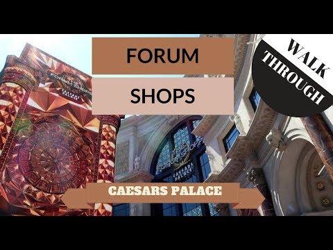 FORUM SHOPS WALK THROUGH | CAESARS PALACE | LAS VEGAS