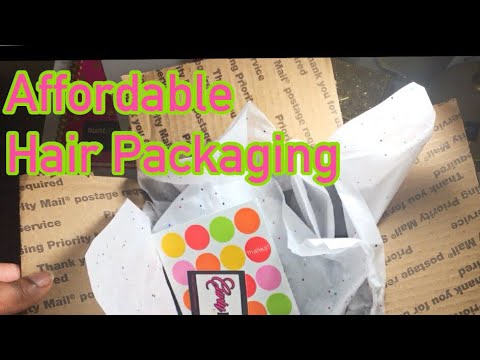 Affordable Hair Packaging Ft The Dollar Tree | LIVE DEMO