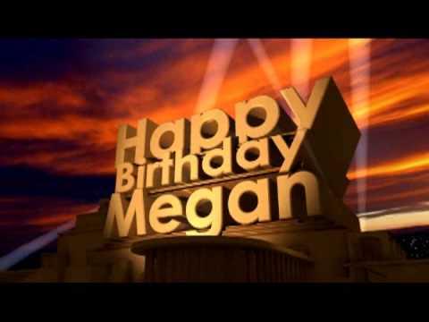 Happy birthday Megan
