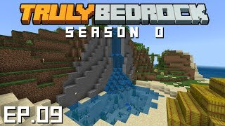 Truly Bedrock S0E9 Terraforming the oasis waterfall and making some profits