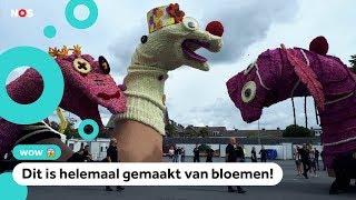Kinderen ontwerpen wagen voor het grootste bloemencorso ter wereld