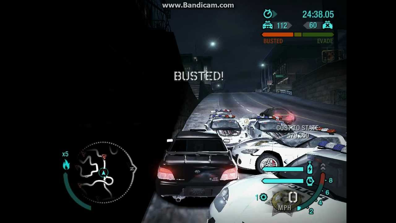 need for speed carbon busted 112 cops youtube. Black Bedroom Furniture Sets. Home Design Ideas