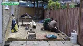 Turf Laying, Paving and Decking - A Landscaping Time Lapse