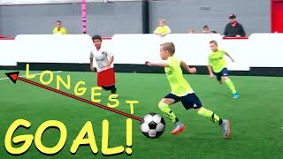 ⚽️Boy Scores Soccer GOAL on Kickoff from Center!⚽️