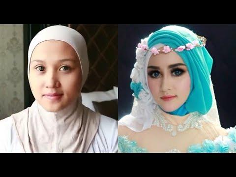 Hijab Pengantin gliter Endah mansyur.