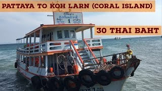Pattaya To Coral Island (koh Larn) Boat journey || Thailand tour