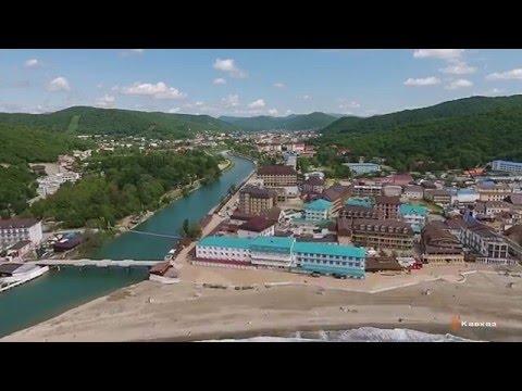 Отель Golden resort в п. Новомихайловский. Аэросъемка