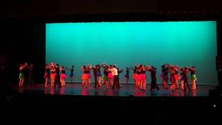 Youth salsa dance formation performance