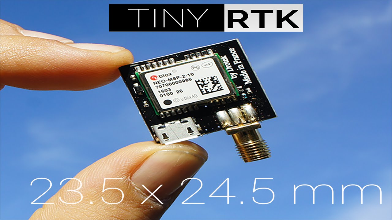 TINY RTK : The world smallest RTK GPS with u-blox NEO-M8P !