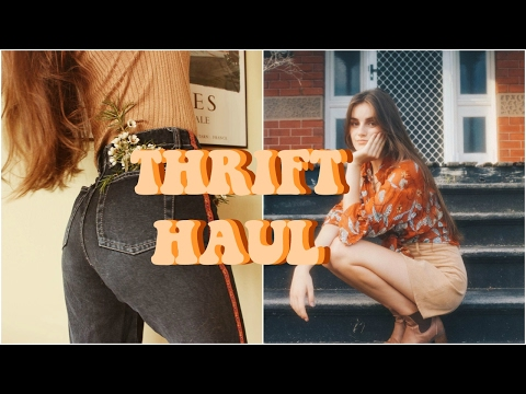 VINTAGE THRIFT/ OP SHOP TRY ON HAUL || Freyahaley