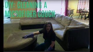How To Clean A Microfiber Couch: A Diy Video.