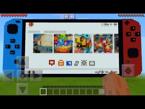 Working Nintendo Switch in Minecraft Pocket Edition (No Mods)