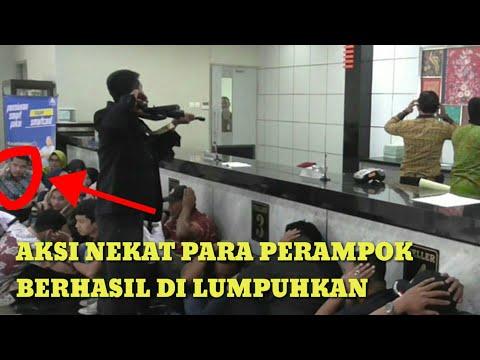 SERU!!! POLISI BERHASIL MENGGAGALKAN AKSI PER4MP*K BANK BRI DI BONE