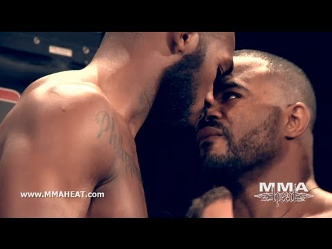 UFC 145: Jon Jones / Rashad Evans & Rory MacDonald / Che Mills Weigh-ins + Staredowns