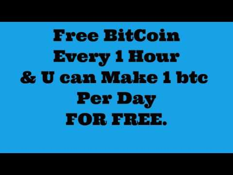 Free BitCoin Every 1 Hour, U Can Make 1 BTC Per Day.