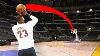 Lebron James UNBELIEVABLE INSANE Full Court / Half Court Practice Shots