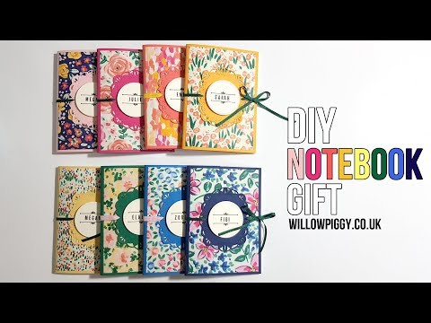 DIY Notebook| Teacher gift Ideas| Stampin up Garden Impressions| Pootle's Team Blog Hop