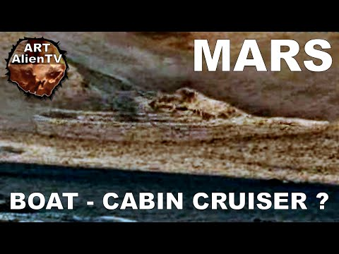 BOAT-WRECK / SHIP found on MARS ? CABIN CRUISER ? ArtAlienTV - 1080p60