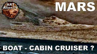 BOAT-WRECK / SHIP found on MARS ? CABIN CRUISER ? ArtAlienTV - 1080p60