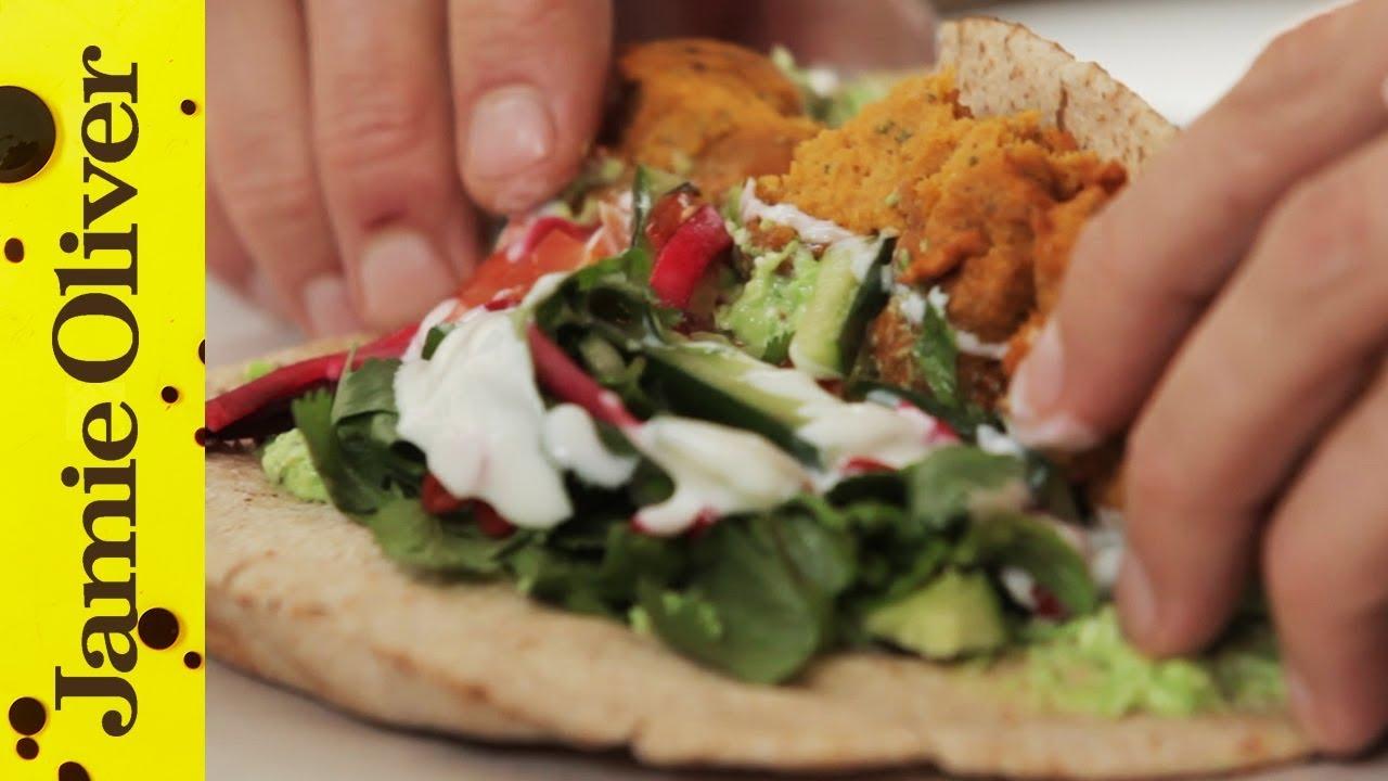 Sweet Potato Falafel with Pea & Feta Hummus | Aaron Craze - YouTube