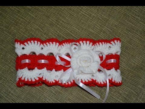 повязки на голову крючком для девочки схемы
