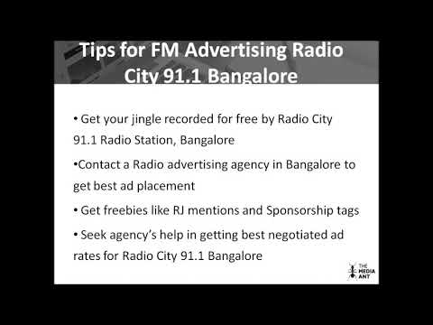 Advertising Details for Radio City 91 1 FM Bangalore