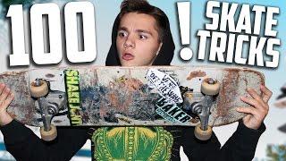 100 ТРЮКОВ НА СКЕЙТЕ | 100 TRICKS ON A SKATEBOARD