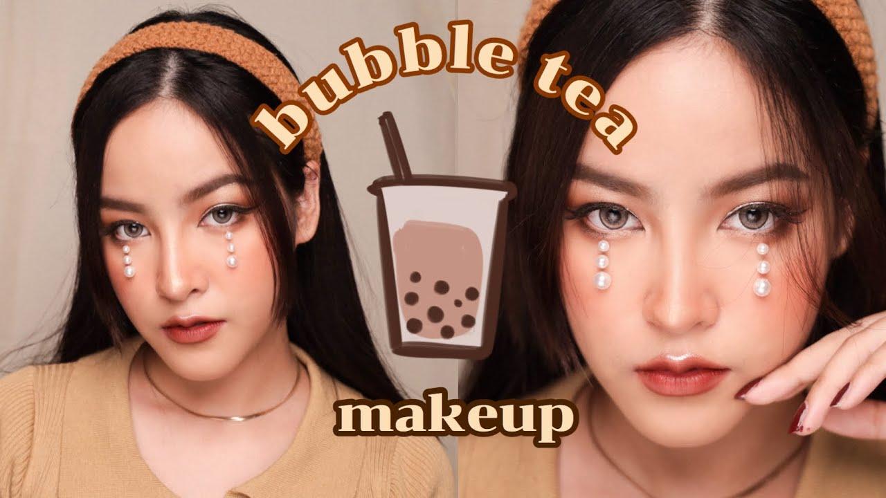 Bubble tea makeup : แต่งหน้าโทนชานมไข่มุก หวานๆน่ากิน | Soundtiss