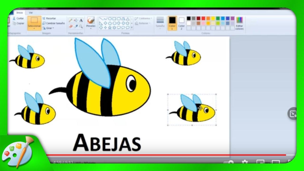 Dibujos Para Niños: Cómo Dibujar Abejas Con Paint