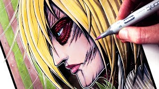 the female titan drawing lesson