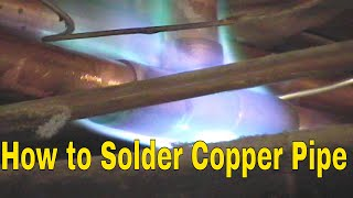 How To Solder Copper Pipe And Repipe Home Part 2