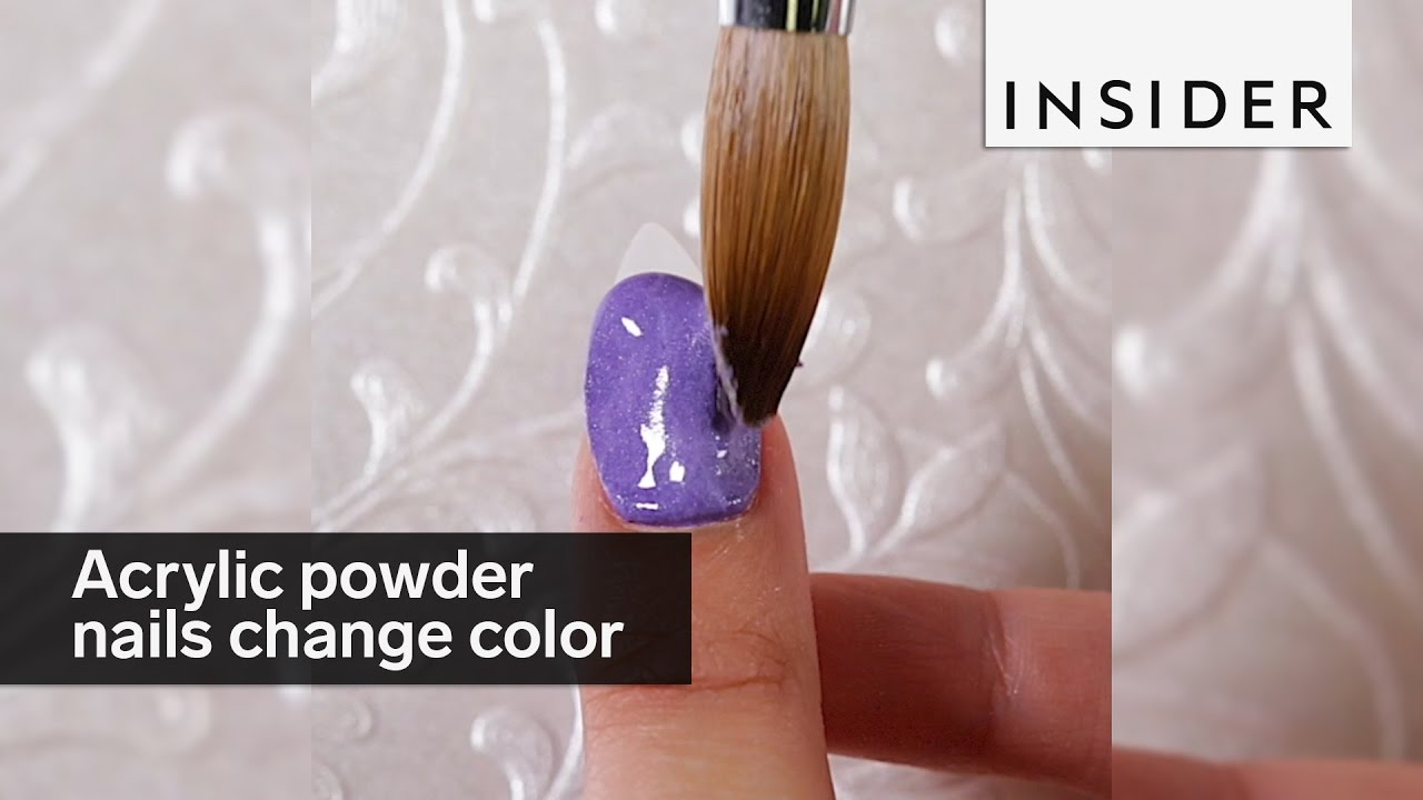These acrylic powder nails change colors - YouTube