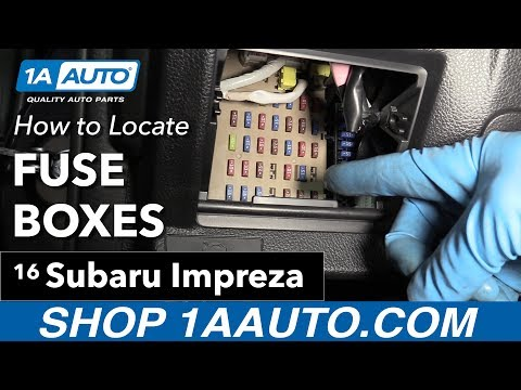 [WQZT_9871]  How to Locate your Fuse Boxes 11-16 Subaru Impreza - YouTube | 2015 Subaru Sti Fuse Diagram |  | YouTube