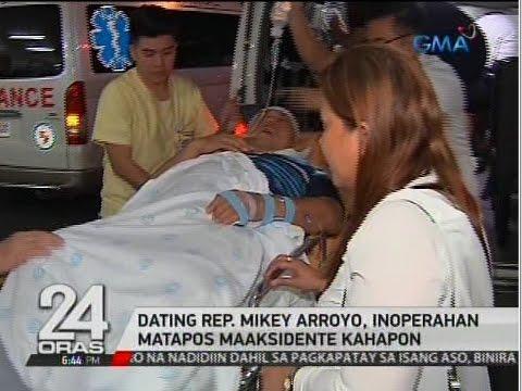 24 Oras: Dating Rep. Mikey Arroyo, inoperahan matapos maaksidente kahapon